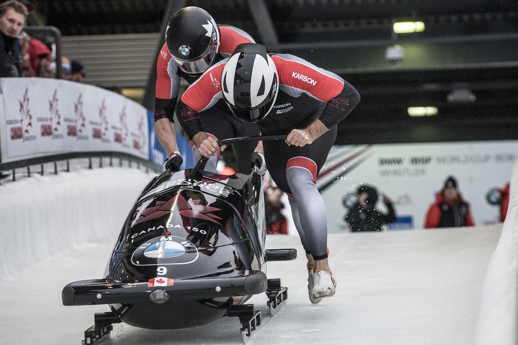 Team Canada - Justin Kripps and Alexander Kopacz start their run