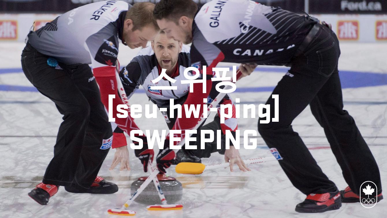 Team Canada - Curling Sweeping Hangul seu-hwi-ping