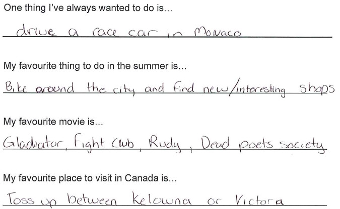 Team Canada - Andrew Poje hi my name is response 3
