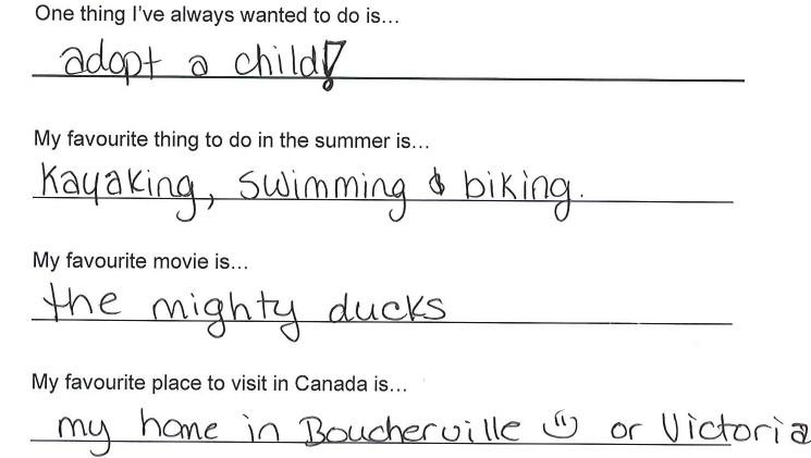 Team Canada - Meagan Duhamel Hi my name is response 3