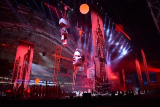 Actors perform during the opening ceremony of the 2014 Winter Olympics in Sochi, Russia, Friday, Feb. 7, 2014. (AP Photo/Jung Yeon-je, Pool)