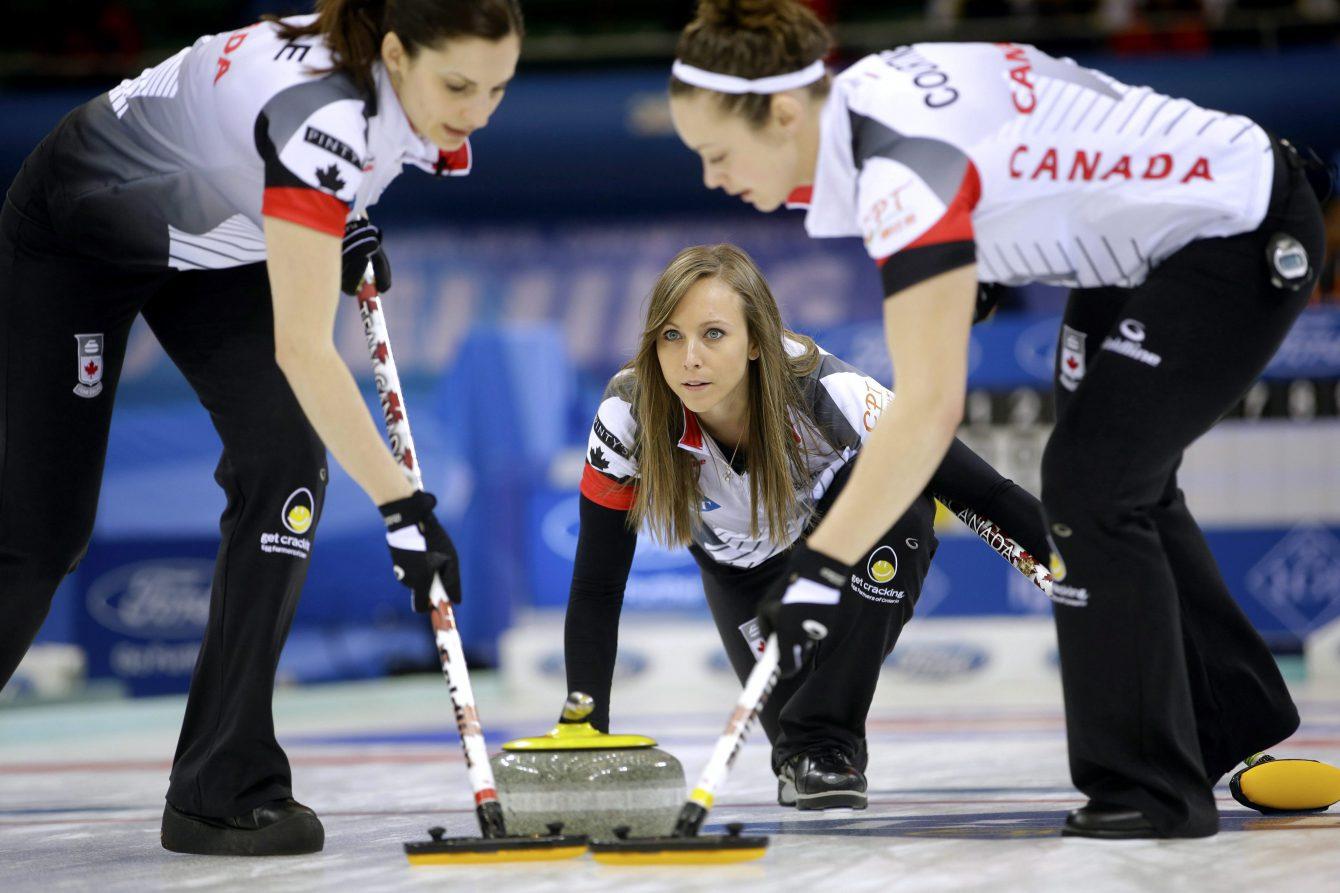 Team Canada Rachel Homan, Lisa Weagle, Joanne Courtney