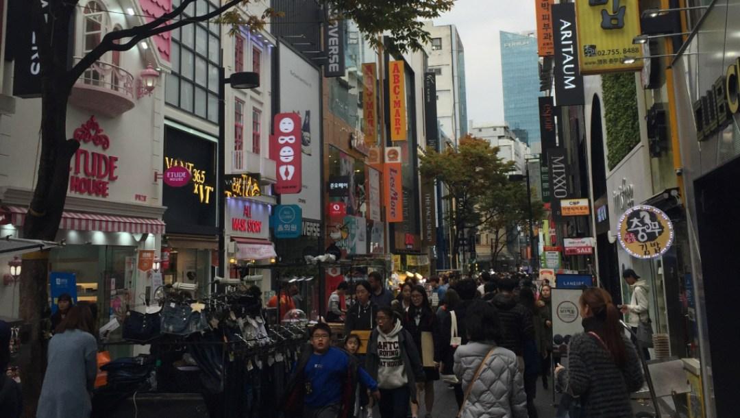 Team Canada - Korea 101 Myeongdong Market