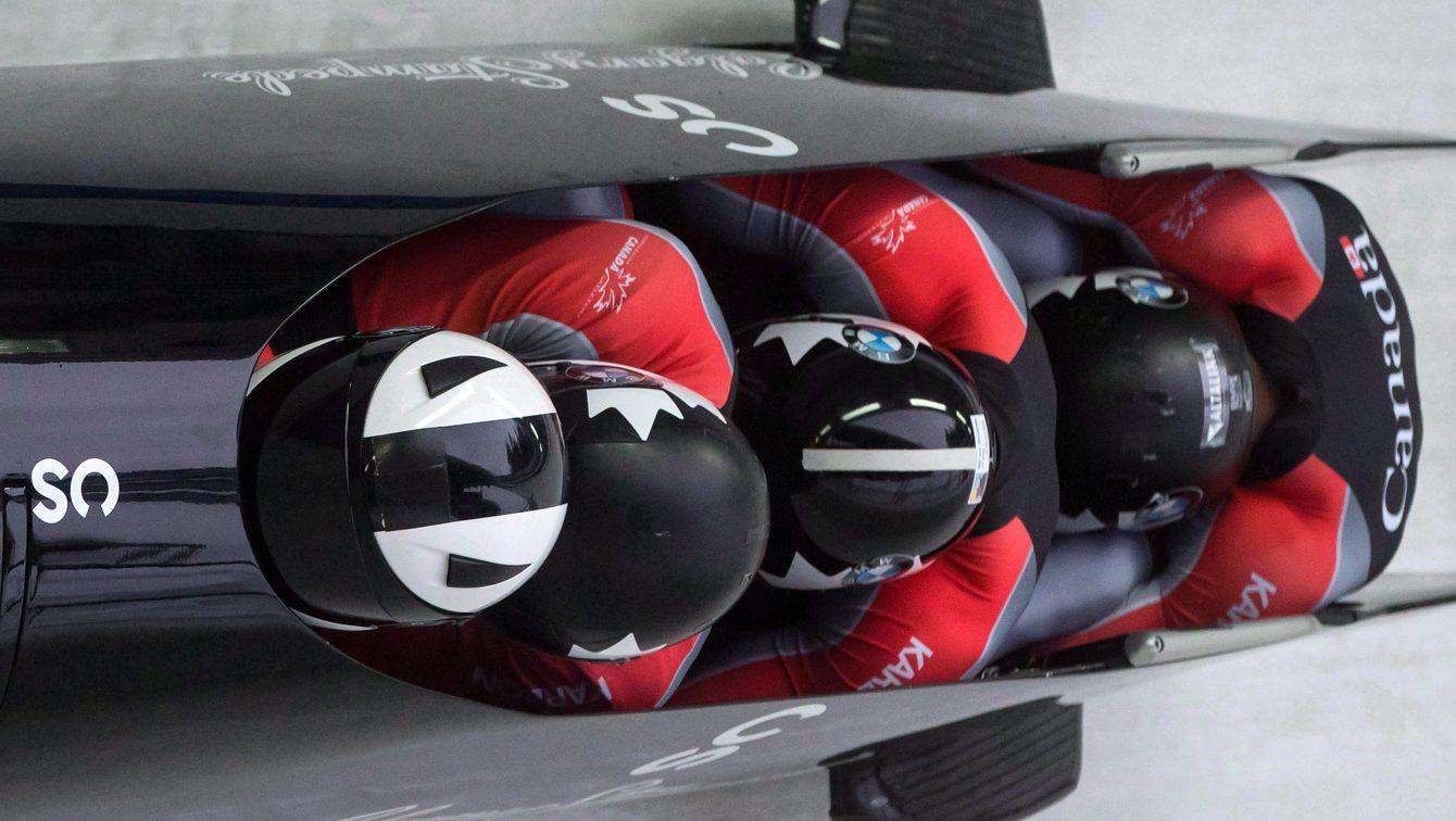 Team Canada Justin Kripps, Alexander Kopacz, Jesse Lumsden, Oluseyi Smith