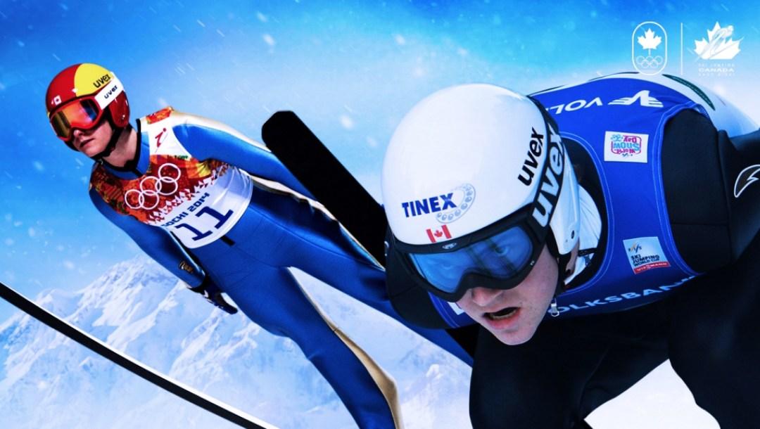 Ski jumping announcement header PyeongChang