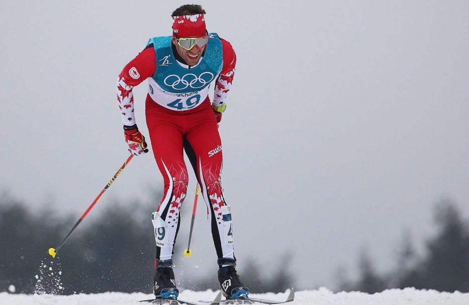 Cross country skier skis in classical technique