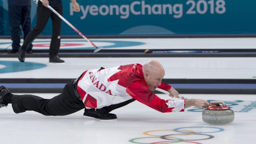 PyeongChang Korea, Gangneung, February 14, 2018.Winter Olympics.Canada skip Kevin Koe.WCF/Curling Canada/ michael burns photo