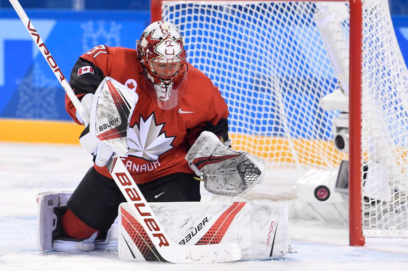 Team Canada women's hockey vs United States PyeongChang 2018