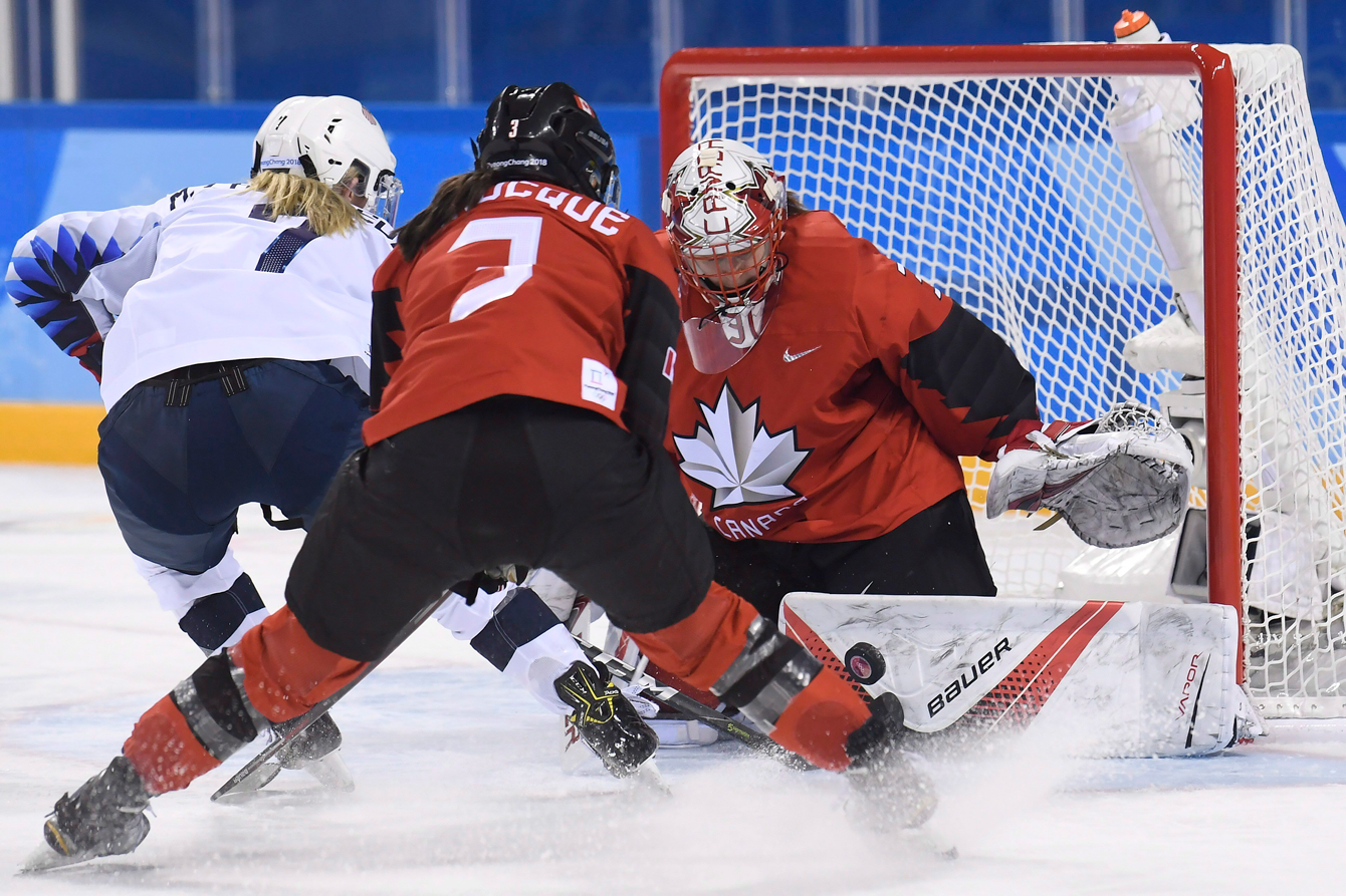Team Canada women's hockey vs Unites States PyeongChang 2018