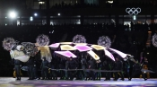Performers participate in the closing ceremony of the 2018 Winter Olympics in Pyeongchang, South Korea, Sunday, Feb. 25, 2018. (AP Photo/Kirsty Wigglesworth)