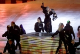 Singer CL performs during the closing ceremony of the 2018 Winter Olympics in Pyeongchang, South Korea, Sunday, Feb. 25, 2018. (AP Photo/Chris Carlson)