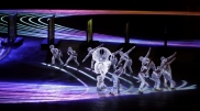 Dancers perform during the closing ceremony of the 2018 Winter Olympics in Pyeongchang, South Korea, Sunday, Feb. 25, 2018. (AP Photo/Michael Probst)