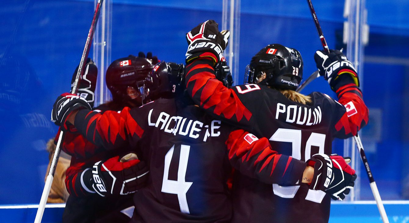 Team Canada hockey Brigette Lacquette Marie-Philip Poulin PyeongChang 2018