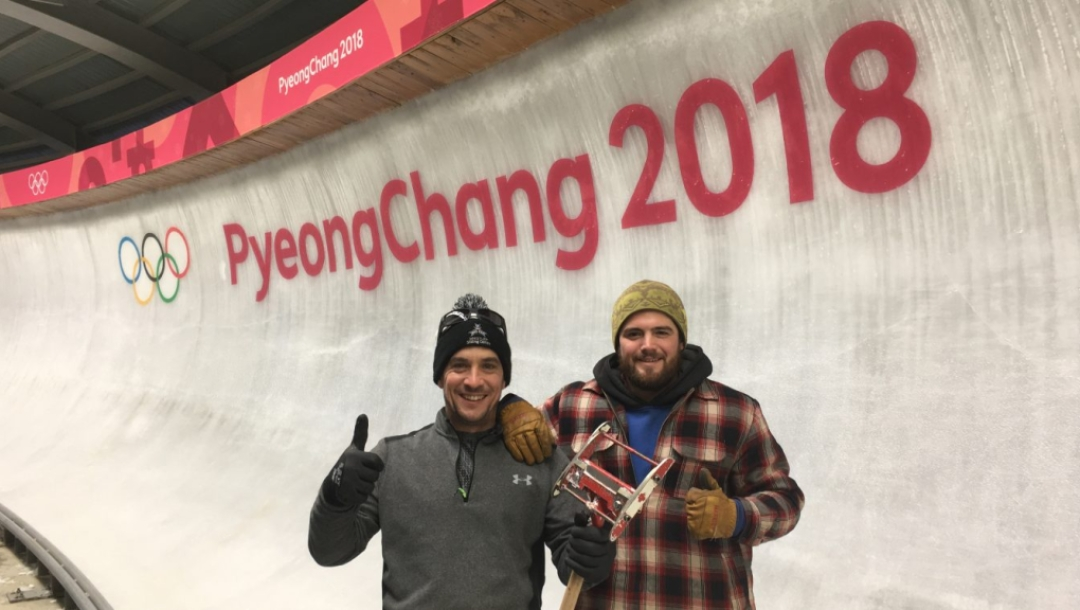 Bobsleigh track canadian ice makers