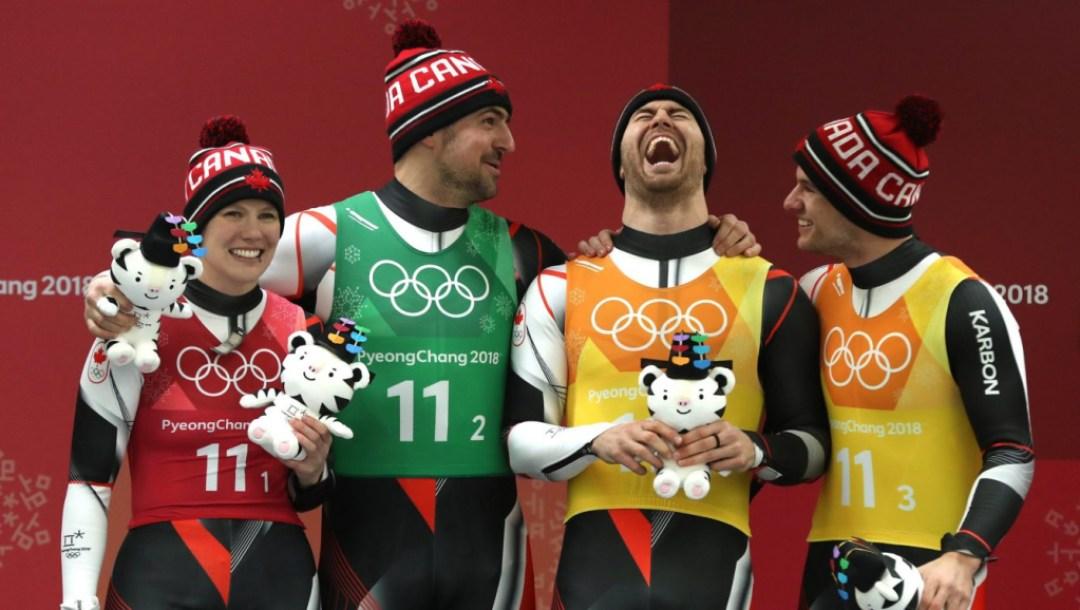 Canada Luge Relay Team PyeongChang 2018
