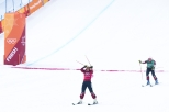Team Canada's Kelsey Serwa and Brittany Phelan win Gold and Silver in the Ladies Ski Cross at Phoenix Snow Park during the PyeongChang 2018 Olympic Winter Games in Bokwang, South Korea,Friday, February 23, 2018. COC – David Jackson