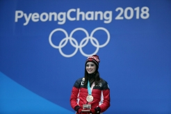Canada's Kaetlyn Osmond receives her figure skating bronze medal at the PyeongChang 2018 Olympic Winter Games in Korea, Friday, February 23, 2018. THE CANADIAN PRESS/HO - COC Ð David Jackson