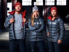 Sightings of German athletes in these grey jackets have already popped up around the Olympic village at PyeongChang 2018 (Photo: Team Deutschland).