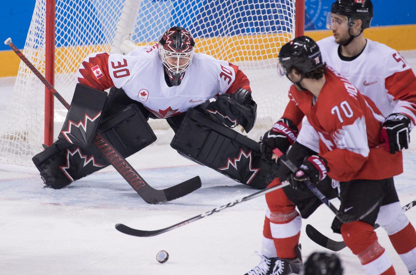 Team Canada Ben Scrivens PyeongChang 2018