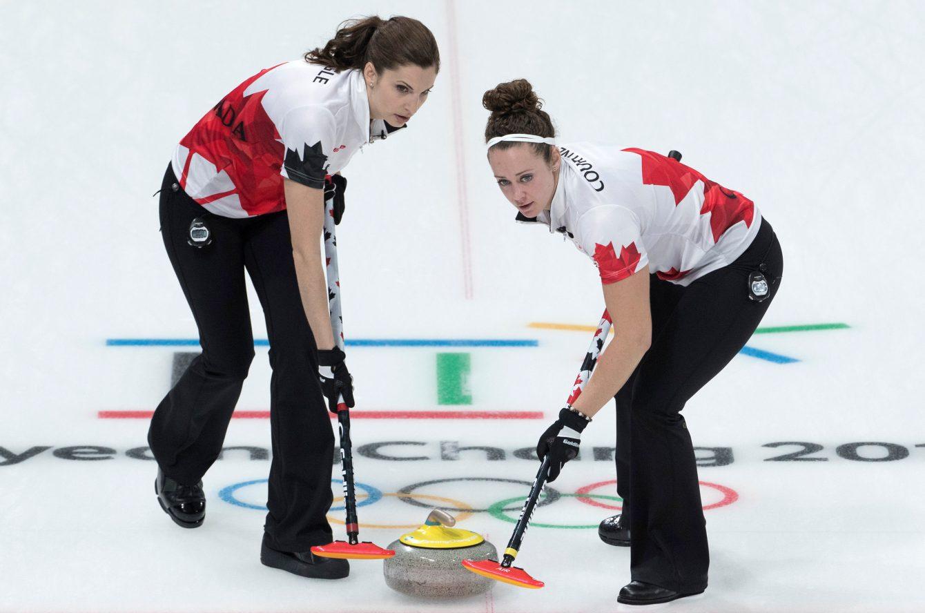 Team Canada Lisa Weagle Joanne Courtney PyeongChang 2018