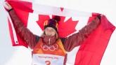 Cassie Sharpe following the Olympic women's ski halfpipe final on February 20, 2018.