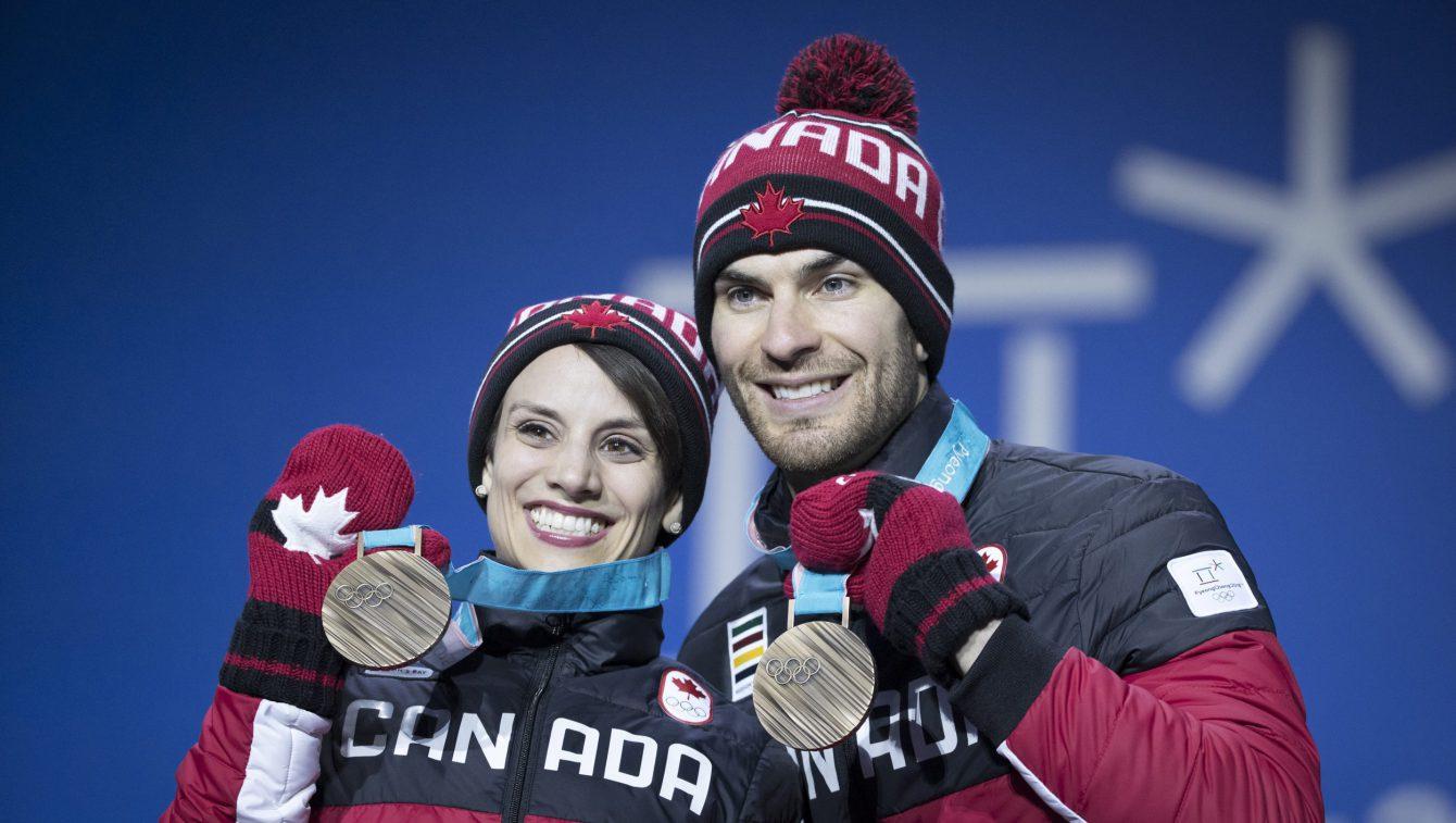 Team Canada Duhamel Radford PyeongChang 2018 medal ceremony