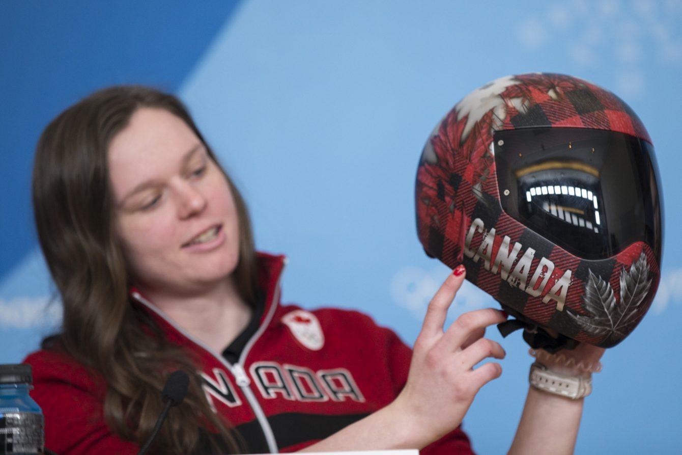 Team Canada Elisabeth Vathje PyeongChang 2018 Helmet