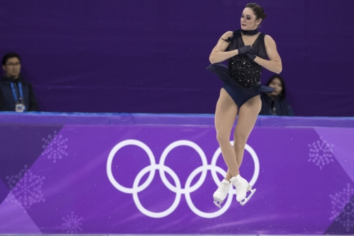 Kaetlyn Osmond competes in the Womens Short Program Figure Skating event at the Gangneung Ice Arena during the PyeongChang 2018 Olympic Winter Games in Gangneung, South Korea, Wednesday, February 21, 2018. COC / David Jackson