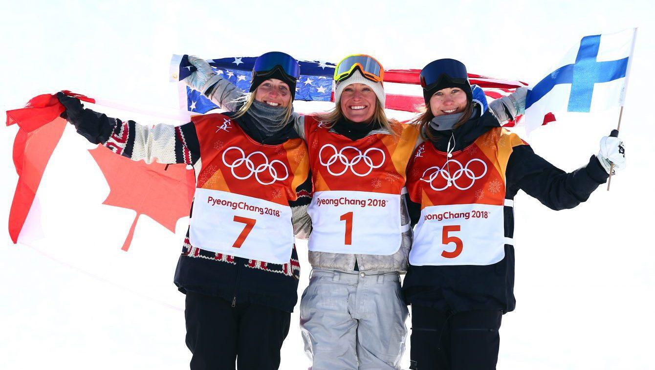 Team Canada PyeongChang 2018 Laurie Blouin slopestyle podium