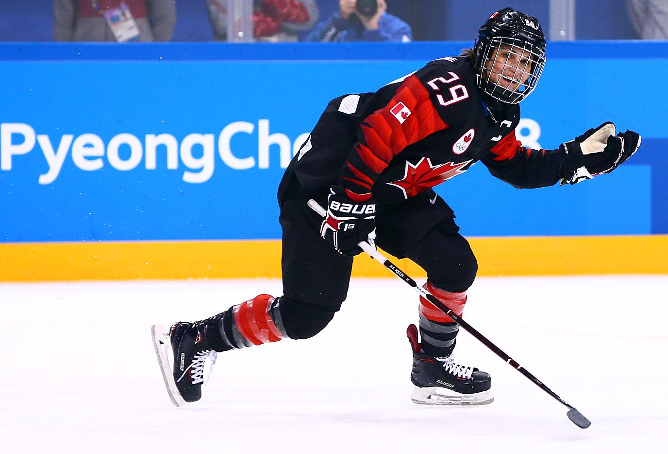 Team Canada Marie-Philip Poulin PyeongChang 2018