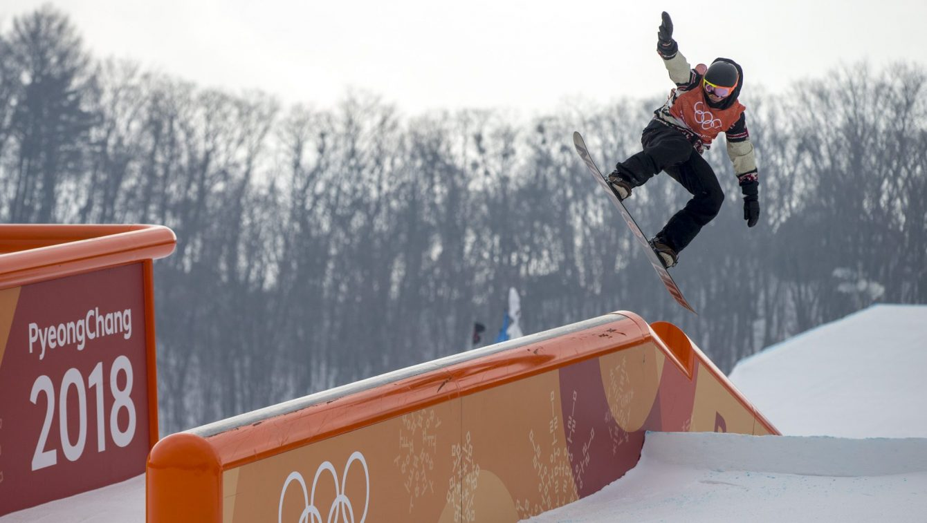 Mark McMorris competing in PyeongChang