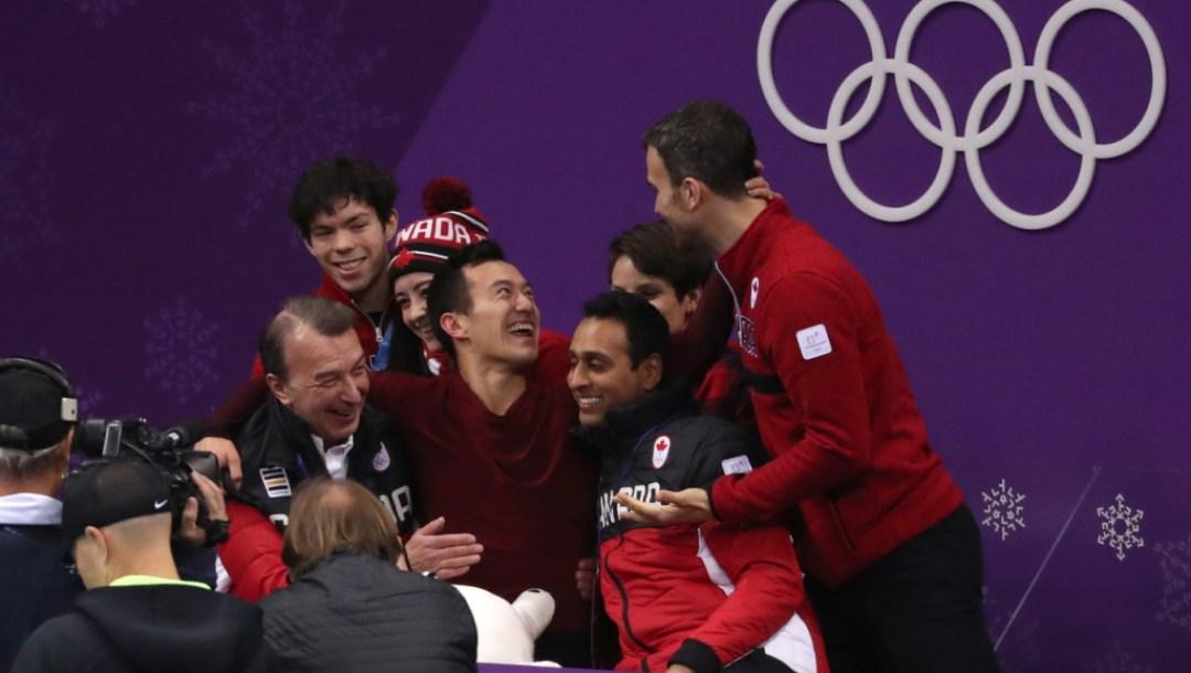 Team Canada Patrick Chan PyeongChang 2018 kiss and cry