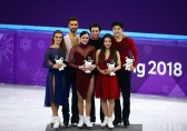 Team Canada PyeongChang 2018 Tessa Virtue Scott Moir ice dance podium