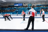 Canada vs Denmark - Curling Men's Round Robin at the PyeongChang 2018 Winter Olympic Games at Gangneung Curling Centre on February 21, 2018 in Gangneung, South Korea.(Photo by Vincent Ethier/COC)