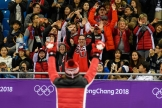 Samuel Girard Win gold during the Short Track Speed Skating Men's 1000m of the PyeongChang 2018 Winter Olympic Games at Gangneung Ice Arena on February 17, 2018 in Gangneung, South Korea (Photo by Vincent Ethier/COC)