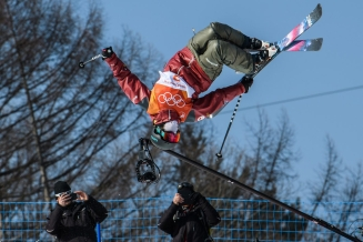 PYEONGCHANG, SOUTH KOREA - FEBRUARY 20: Cassie Sharpe competes during the Freestyle Skiing - Women's Ski Halfpipe final at the Phoenix Snow Park on February 20, 2018 in Pyeongchang-gun, South Korea.(Photo by Vincent Ethier/COC)