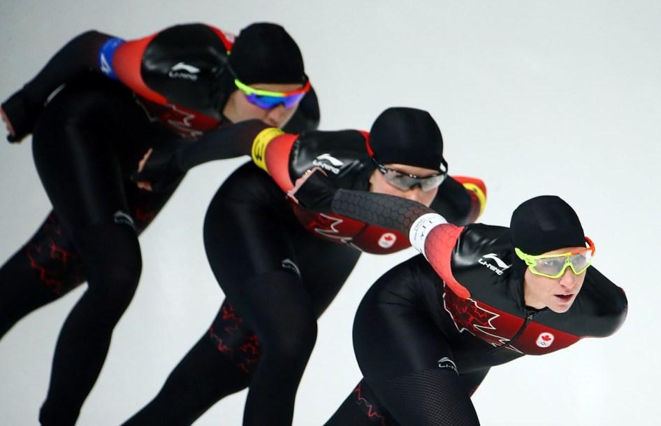 Team Canada Ivanie Blondin Josie Morrison Isabelle Weidemann PyeongChang 2018