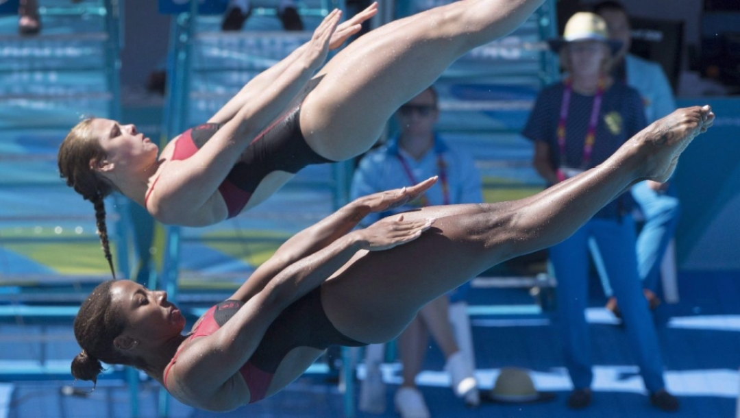 Team Canada Jennifer Abel and Melissa Citrini-Beaulieu