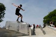 Andrew Ryan Walker skateboarding on a handrail