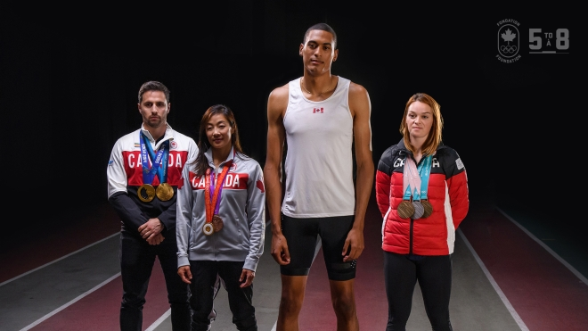 Olympians posing