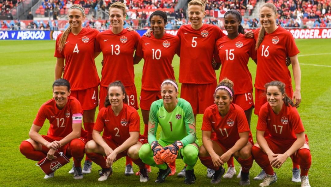 Team Canada womens naitional soccer team