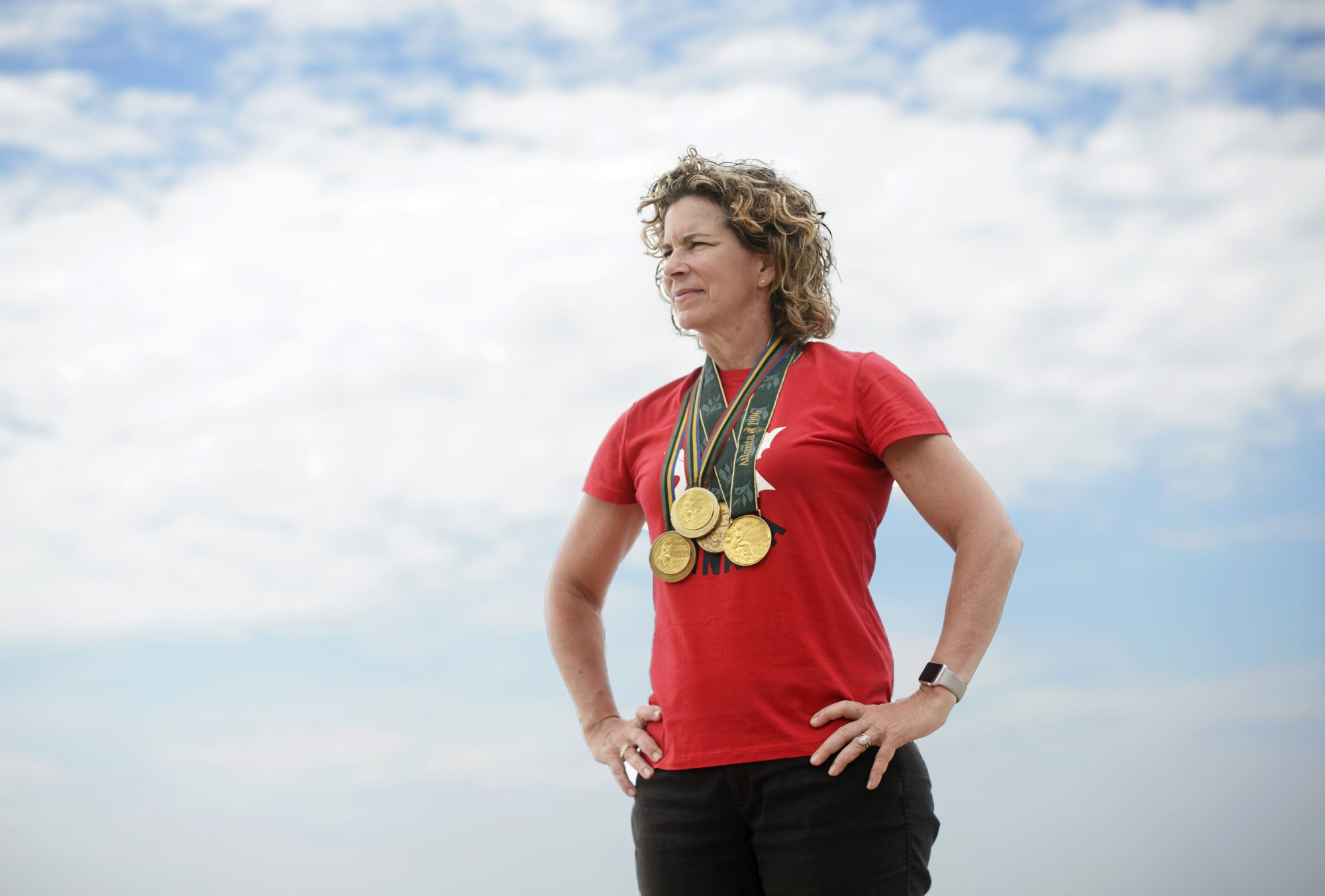 TORONTO, Ont. (28/06/19) - Team Canada's Chef de Mission for the Tokyo 2020 games Marnie McBean poses for a portrait at the Argonauts Rowing Club on June 28, 2019. Photo by Andrew Lahodynskyj