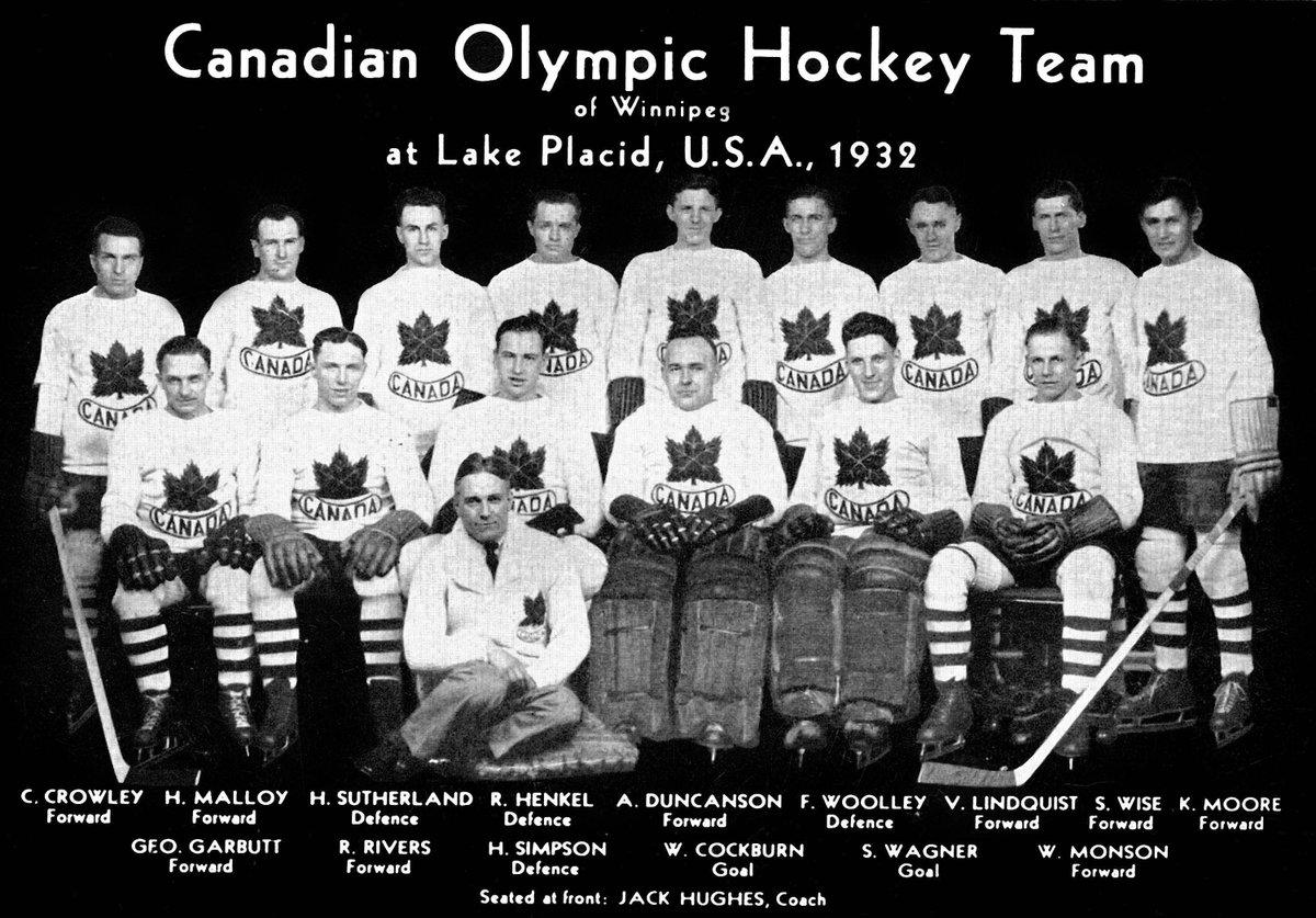 Team photo of Canadian hockey players