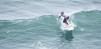 Mathea Olin riding the wave