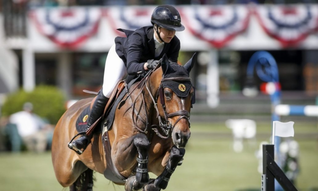 Canada's Nicole Walker rides Falco van Spieveld