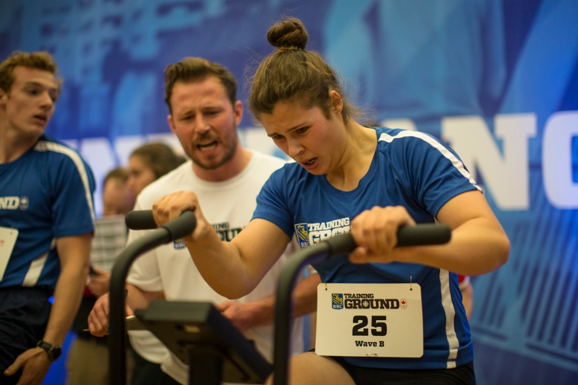 Anna Negulic during testing at the RBC Training Ground final in Halifax.