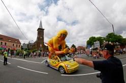 Advertising caravan at Tour de France