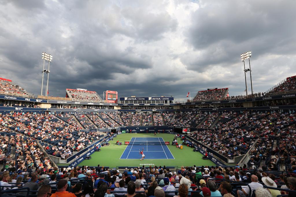 View of Aviva Centre court from inside the stadium