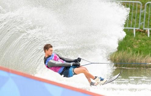 waterskier on a wave