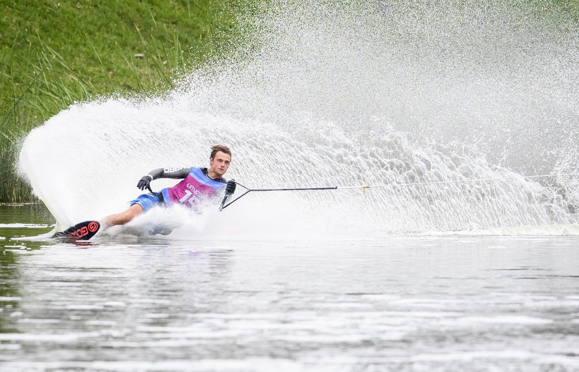 man on waterskis